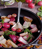 Roasted French Breakfast Radish Recipe by MorningStar Kitchen
