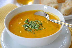Curried Carrot and Lentil Soup Recipe by MorningStar Kitchen