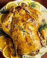 Roast Chicken prepared wth Lavender Sea Salt from MorningStar Kitchen