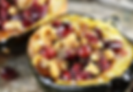 Cranberry Stuffed Acorn Squash Recipe by MorningStar Kitchen