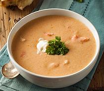 Smoked Salmon and Sweet Potato Chowder Recipe by MorningStar Kitchen