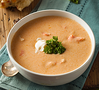 Smoked Salmon and Sweet Potato Chowder Recipe by MorningStar Kitchen