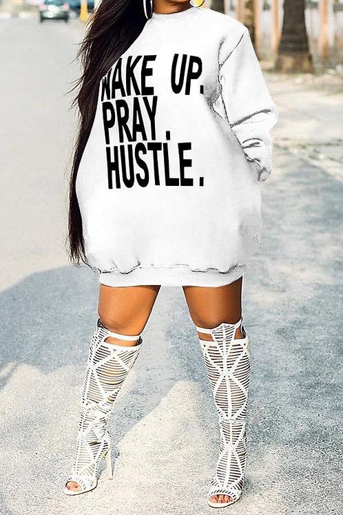 Wake Up, Pray & Hustle Long Sweatshirt - 3 Colors