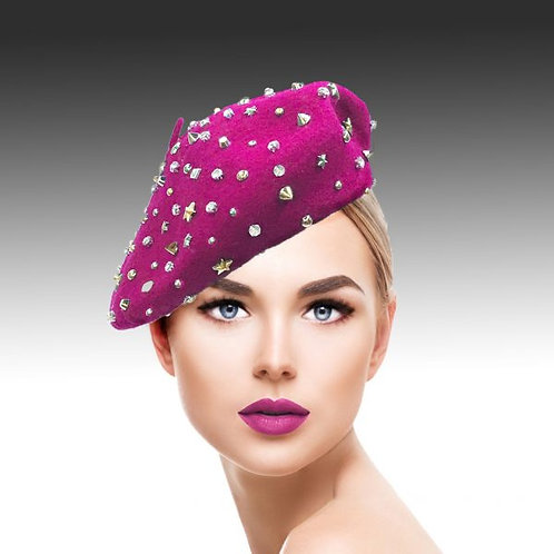Studded Bistro Beret - 3 Colors