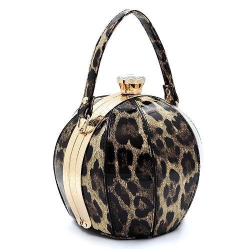 Small Leopard Ball Shape Evening Bag