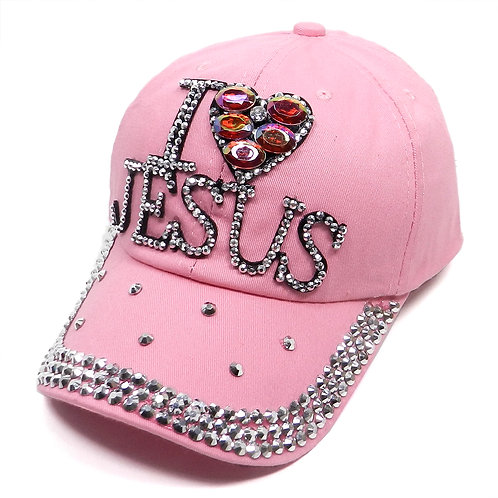I Love Jesus Bling Cap
