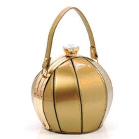 Gold Small Ball Shape Evening Bag