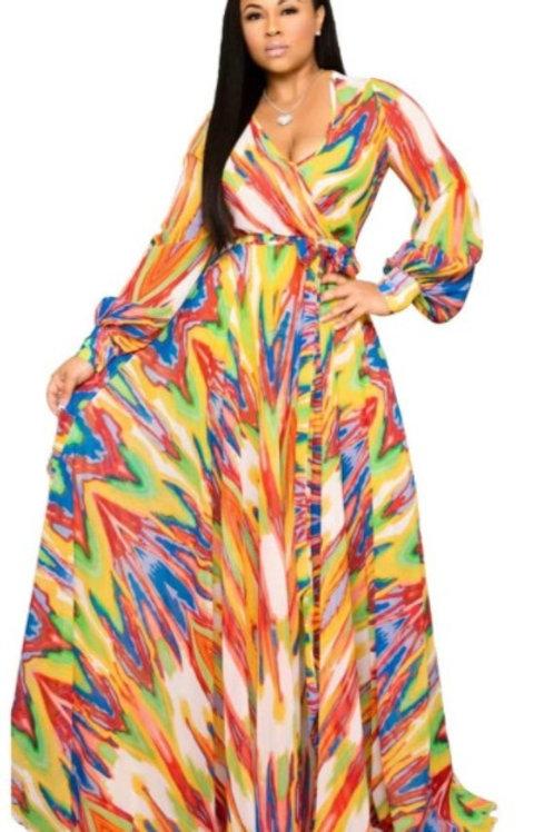 Boho Long Sleeve Maxi Dress