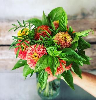 Fresh cut flowers in a mason jar