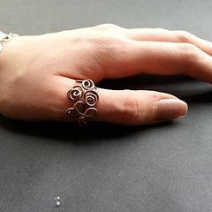 Copper wire ring handmade jewellery