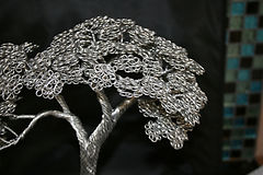 Aluminium wire tree sculpture