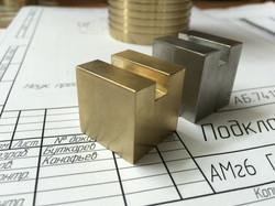 Куб (латунь и нержавеющая сталь)