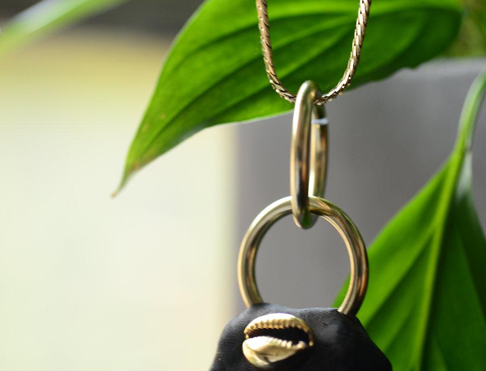 large elite shungite 9k gold chain