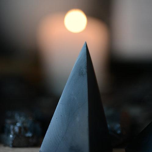 Emf protection tall 5cm shungite pyramid