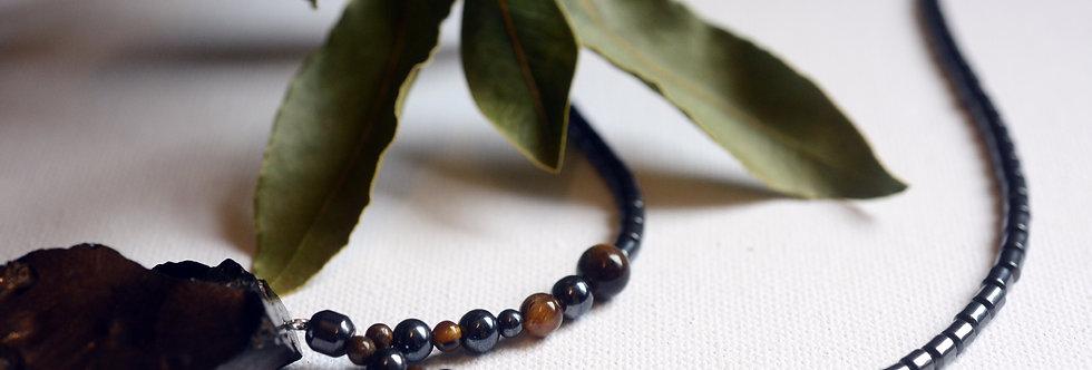 largeelite shungite, tigers eye and hematite protection beads