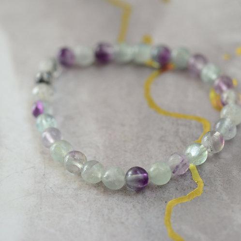 fluorite and tourmaline bracelete