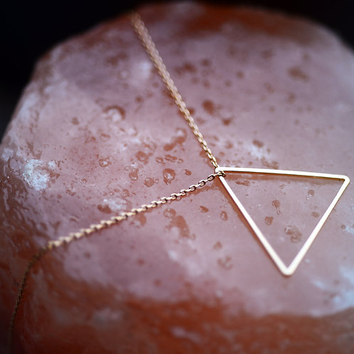 9kt gold plated element pyramid necklace