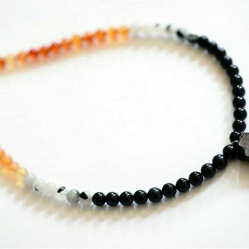 Elite shungite, onyx, quartz &tourmaline protection beads