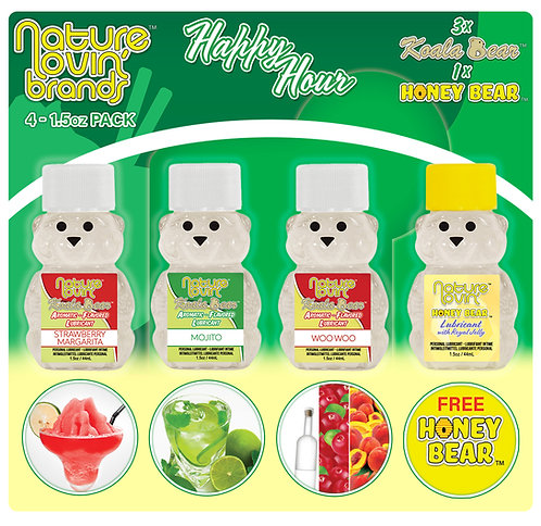 Koala Happy Hour Flavored Lubricant 4 Pack Sampler