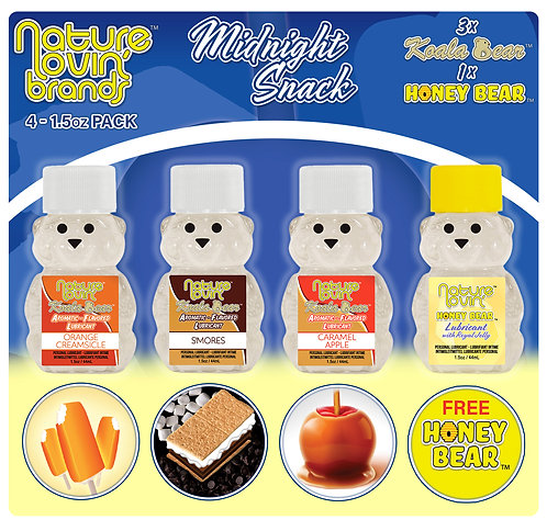 Koala Midnight Snack Flavored Lubricant 4 Pack Sampler