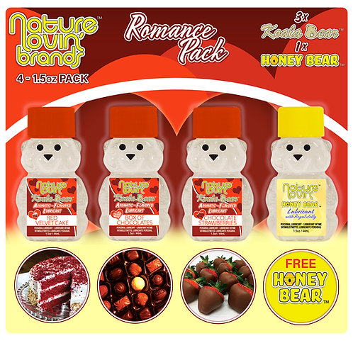 Koala Romance Flavored Lubricant 4 Pack Sampler