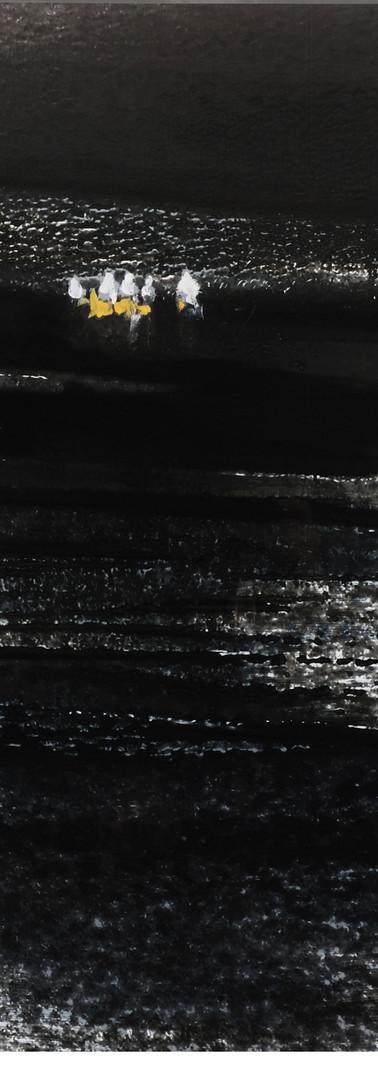 Entre l'ombre et la lumière, entre le ciel et l'océan