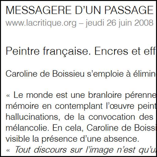 Caroline de boissieu - La critique.org -