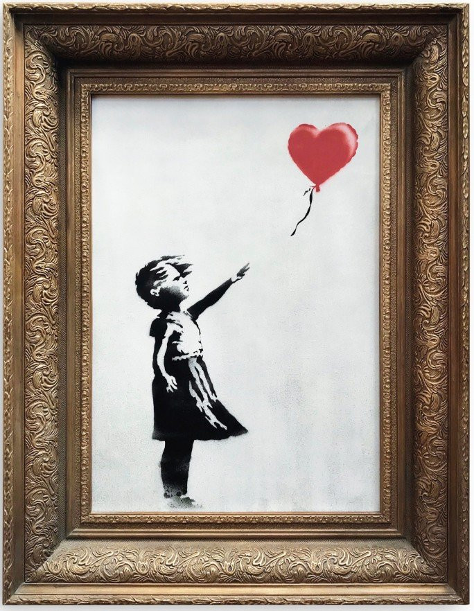 Girl With Balloon, Banksy - avant son autodestruction