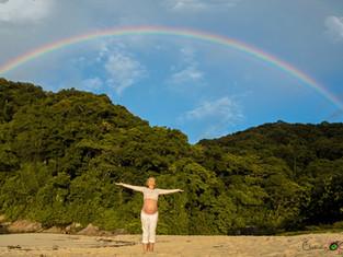 Quando o arco-íris sorriu pra nós