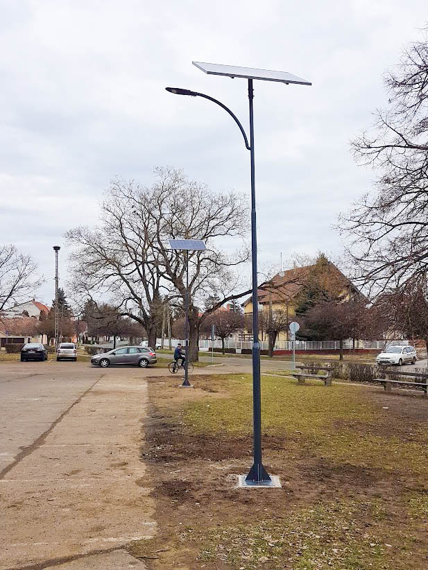 Hajdúszoboszló iskola parkoló megvilágít
