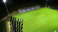 NB II -es stadion pályavilágításának átadása
