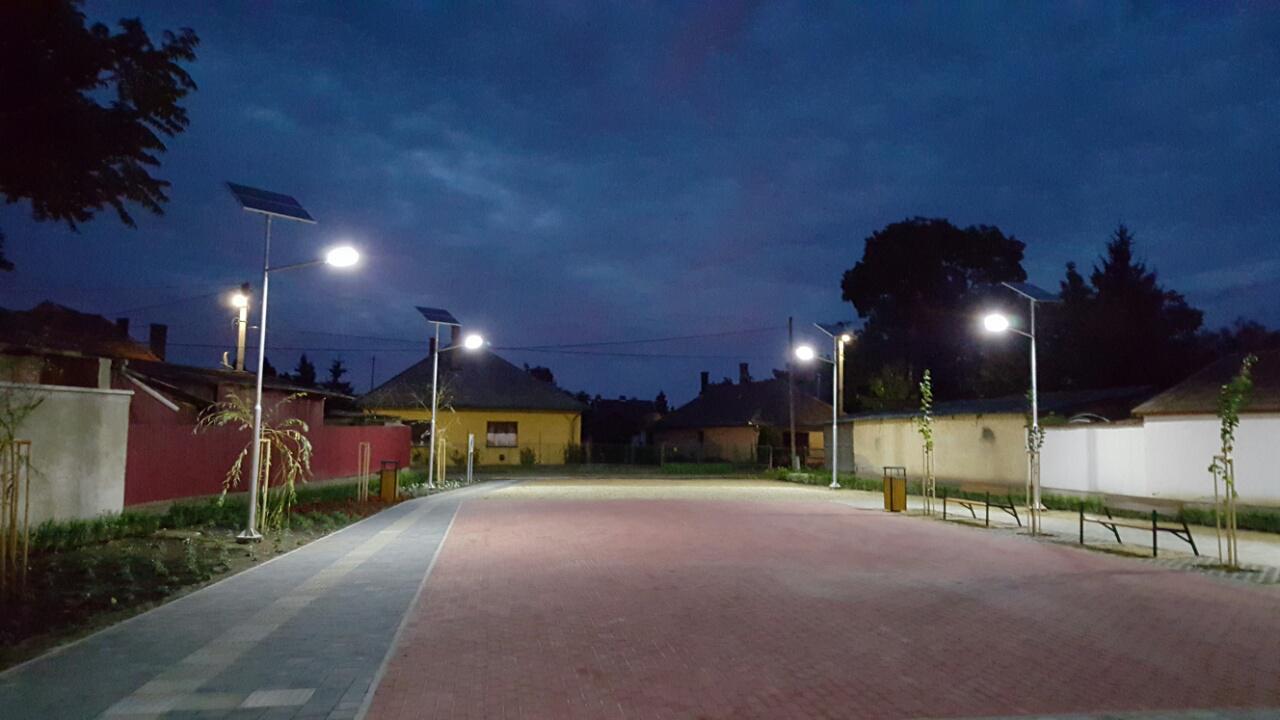 Napelemes közvilágítás, Tiszavasvári