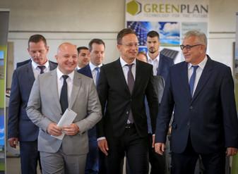 Szijjártó Péter külügyminiszter látogatása a Green Plan Energy Kft.-nél