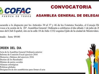 Convocatoria Asamblea General de Delegados