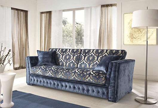 Teseo Sofa Cis_blaues Sofa_Couch_Wohnzimmer Einrichtung_München