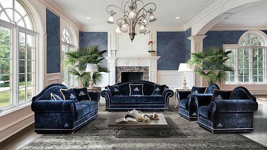 Sofa Etoile, italienische Designermöbel, blaues Sofa, Luxus Sofa, Sofa nach Maß