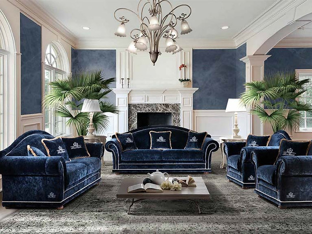 Sofa_modernes Sofa_Couch_blaue Couch_Wohnzimmer_classic living_di Marco_Etoile Sofa