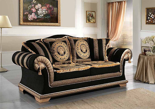 Sofa Emporio, Luxus Sofa, Couch, Bigsofa, Versailles Sofa, Sofa mit Gold