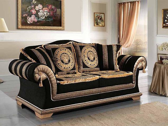 Sofa_klassische Couch_Schwarz gold Sofa_Versailles Sofa_Luxus Sofa_günstige Sofas_Wohnzimmer_Emporio Sofa