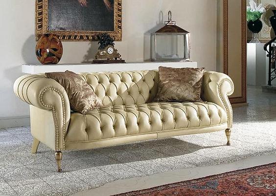 Mozart_Ledersofa_mit_Rückenheftung,_Knöpfe_Ledersofa_Leder Couch