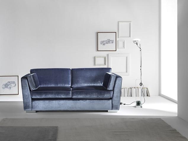 Sofa_Wohnzimmer_CIS Salotti_Couch_Satisfaction_blaue Couch_Samt Sofa