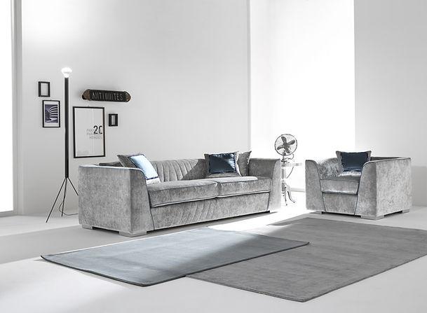 GLAMOUR Sofa Cis_Couch_grey couch_graue Couch_graues Sofa_italienisches desig_Möbel_München interior