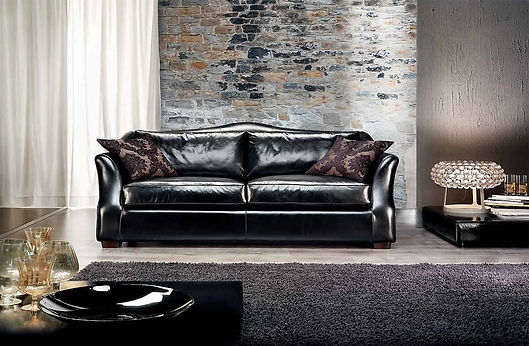 Visconti Leder Sofa_Classic_Wohnzimmer_Sofa_Ledersofa_Interior_München