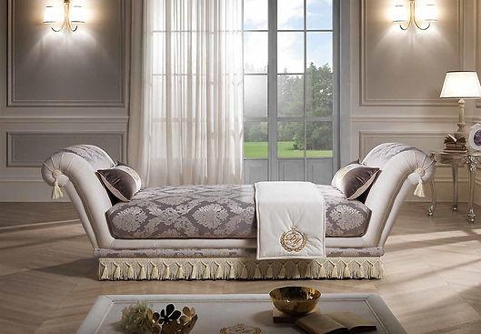 Dormeuse Principe 2 Armlehnen, Dormöse, Schlafsofa, Luxus Möbel, Luxussofa