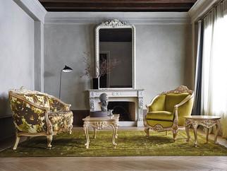 Adone Barock Sofa mit Sessel Silik