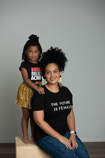 Diana Rosito, CEO of Attia Designs, with her daughter Isabella Byll-Cataria