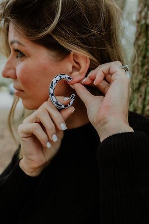 Women wearing Attia Designs' earrings