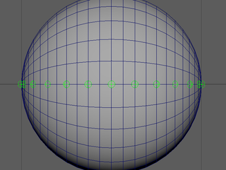 Planar Projection Onto A Sphere (Improved Eyelid Deformations)
