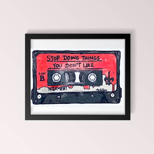 Cassette Tape Print (8 Colors)