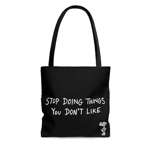 Handwritten Black Tote Bag